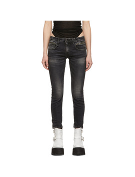 Black Biker Boy Jeans by R13