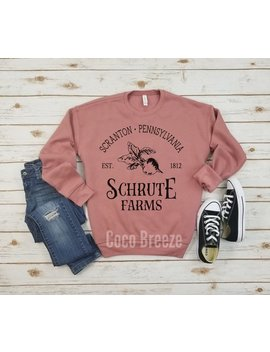 Schrute Farms Fleece Sweater, Scranton Pennsylvania Est 1812, Inspired By The Office by Etsy