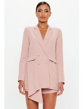 Peace + Love Rose Tuxedo Blazer Playsuit by Missguided