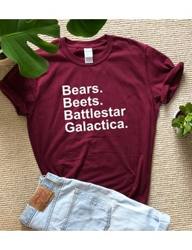 Bears Beets Battlestar Galactica Shirt Screen Printed Dwight Schrute The Office Shirt Michael Scott Schrute Farms Tv Show Tshirt by Etsy