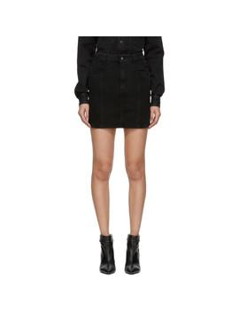 Black Denim Miniskirt by Givenchy
