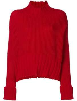 Pullover Mit Strickmuster by Msgm