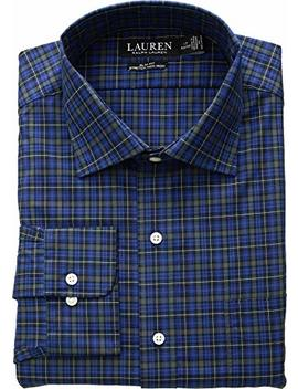 Lauren Ralph Lauren Mens Non Iron Slim Fit Stretch Holiday Dress Shirt by Lauren By Ralph Lauren