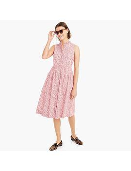 Petite Sleeveless Ruffle Neck Midi Dress In Liberty® Chamomile Floral by Petite Sleeveless Ruffle Neck Midi Dress In Liberty