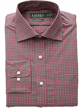 Lauren Ralph Lauren Mens Classic Fit Non Iron Stretch Poplin Dress Shirt by Lauren By Ralph Lauren