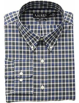 Lauren Ralph Lauren Mens Slim Fit Non Iron Stretch Poplin Dress Shirt by Lauren By Ralph Lauren