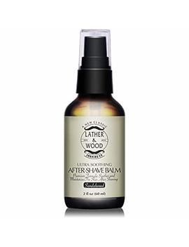 Best After Shave Balm, Sandalwood Scent, Premium Aftershave Lotion, Soothes And Moisturizes Face After Shaving, Does Not Dry The Skin, Eliminates Razor Burn For A Silky Smooth Finish … by Lather & Wood Shaving Co.
