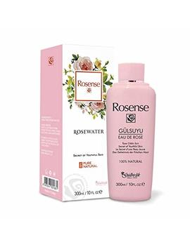 100 Percents Pure Natural Vegan Turkish Rosewater 300ml/10 Oz Hydrating Rose Water Face Toner (No Additives, No Chemicals, No Preservatives) by Rosense