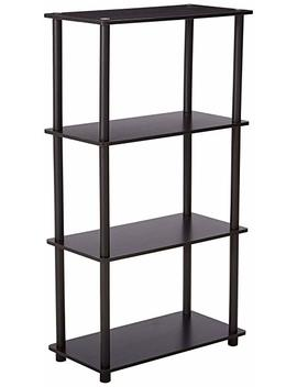 Furinno (99557 Ex/Bk) Turn N Tube 4 Tier Multipurpose Shelf Display Rack   Espresso/Black by Furinno