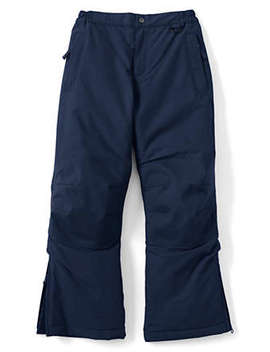 School Uniform Boys Slim Squall Waterproof Iron Knee Winter Snow Pants by Lands' End