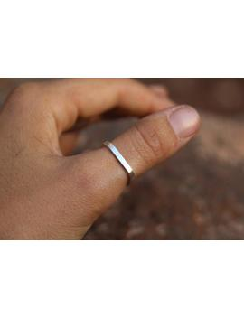 Square Sustainable Sterling Silver Stacking Ring. Handmade In Canada.   Eco Friendly   Fair Trade by Etsy