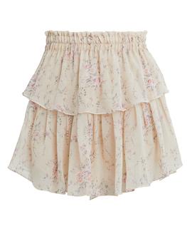 Tiered Mini Skirt by Loveshackfancy