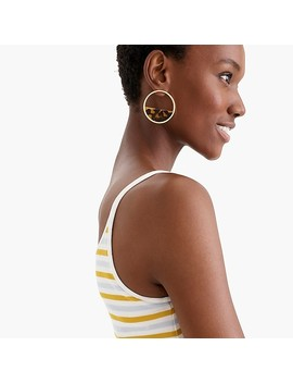 Tortoise Half Disc Earrings by J.Crew