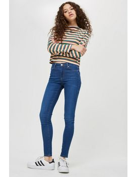 Petite Dark Blue Leigh Jeans by Topshop