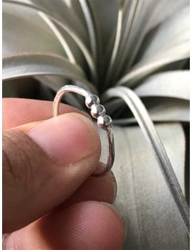 Bead Ball Ring Hand Made With Recycled Materials Sterling Silver Argentium Zero Waste by Etsy