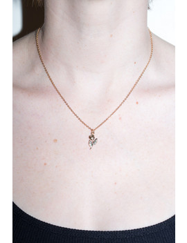 Gold Rose Charm Necklace by Brandy Melville