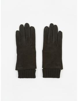 Megan Suede Glove   Black by Hestra