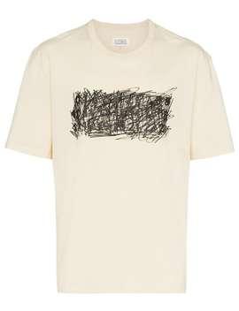 Klottermönstrad T Shirt Med Logotyp by Maison Margiela