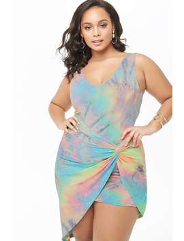 Plus Size Tie Dye Tulip Dress by Forever 21