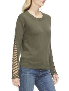Sunrise Bay Cut Out Cotton Sweater by Vince Camuto