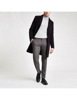 Dark Grey Stripe Super Skinny Smart Pants by River Island