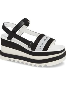 Stripe Logo Platform Sandal by Stella Mccartney