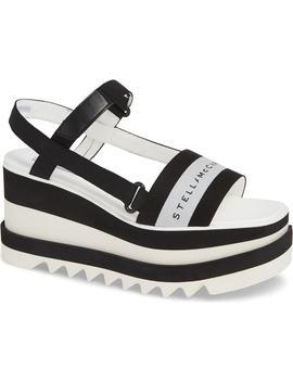 Stripe Logo Platform Sandal by Stella Mccartney
