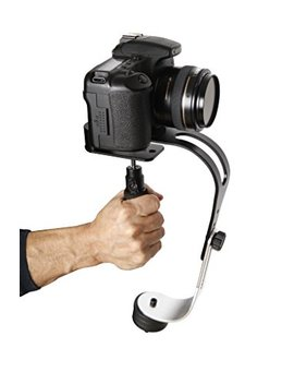 The Official Roxant Pro Video Camera Stabilizer Limited Edition (Midnight Black) With Low Profile Handle For Go Pro, Smartphone, Canon, Nikon   Or Any Camera Up To 2.1 Lbs.   Comes With Phone Clamp. by Roxant