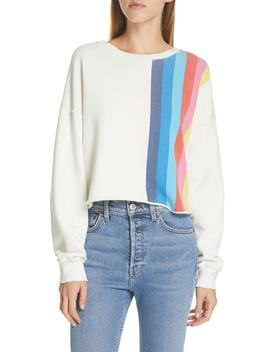 Stripe Raw Sweatshirt by Re/Done