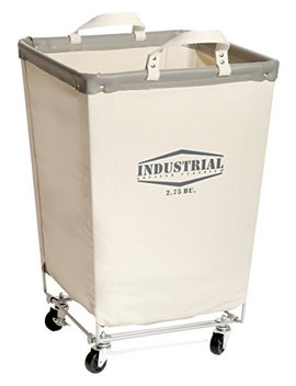 "Seville Classics Commercial Heavy Duty Canvas Laundry Hamper With Wheels, 18.1"" D X 18.1"" W X 27"" H, Natural White by Seville Classics"