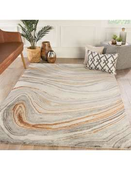 Hammet Handmade Abstract Copper/ Gray Area Rug by Juniper Home