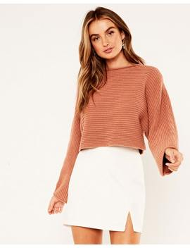Crop Knit Jumper by Glassons