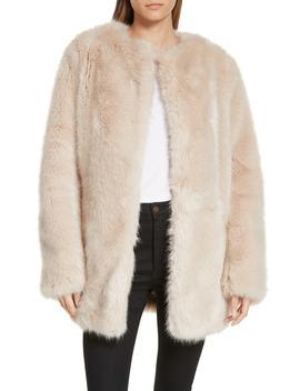Faux Fur Coat by Helmut Lang
