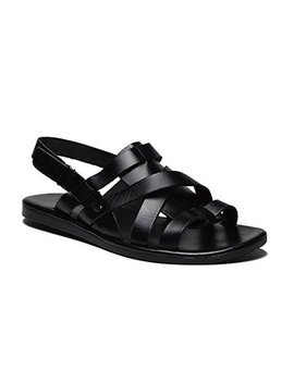 New Men's 52626 Leather Roman Gladiator Criss Cross Sling Back Sandals by J'aime Aldo