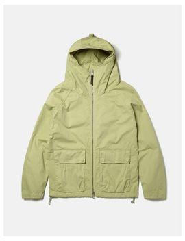 Men's Green Zipped Hooded Parka by Albam