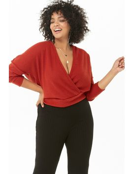 Plus Size Brushed Surplice Top by Forever 21