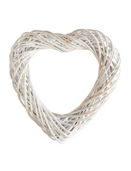 "18"" Natural Whitewashed Twig Heart Wreath by Pier1 Imports"