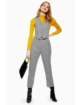 Houndstooth Jumpsuit by Topshop