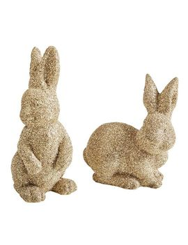 Gold Glittered Bunnies by Pier1 Imports