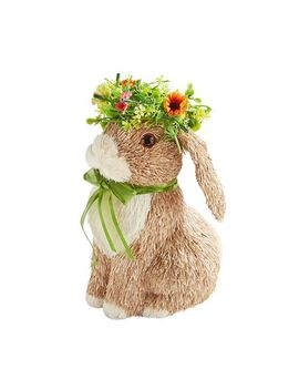 Sisal Bunny With Floral Crown by Pier1 Imports