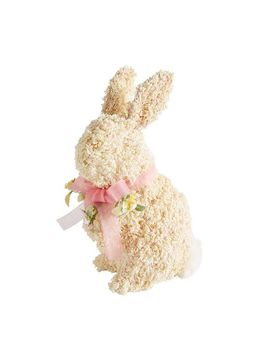 Cream Flower Bunny With Pink Bow by Pier1 Imports