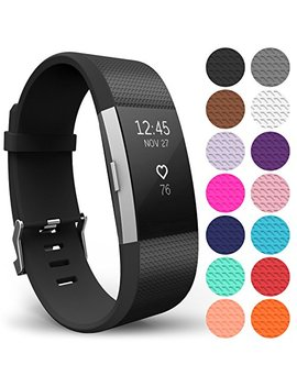 Yousave Accessories Fit Bit Charge 2 Strap Band, Replacement Silicone Sport Wristband For The Fit Bit Charge 2   Available In 15 Colours by Yousave Accessories