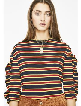 On The Scene Striped Top by Ivory Rose