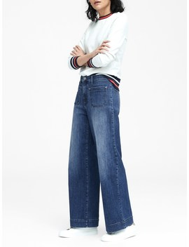High Rise Wide Leg Patch Pocket Jean by Banana Repbulic