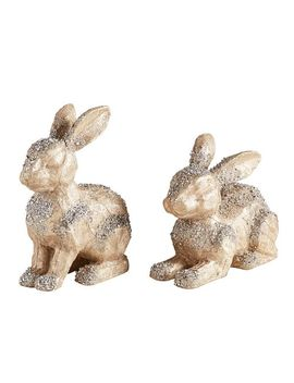Champagne Shimmer Bunnies by Pier1 Imports