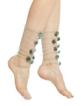 Dahlias Tulle Socks by Lirika Matoshi