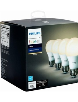 Hue White A19 Wi Fi Smart Led Bulb (4 Pack)   White by Philips