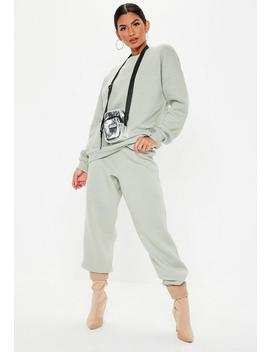 Gray Oversized Brushback Jogger Co Ord Set by Missguided