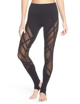 Mesh Inset High Waist Stirrup Leggings by Alo