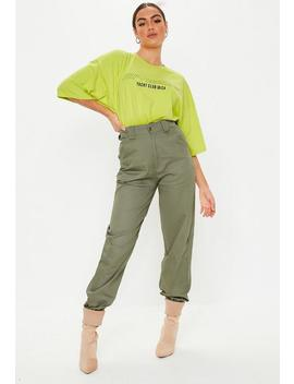 Khaki Slim Leg Jogger Pants by Missguided